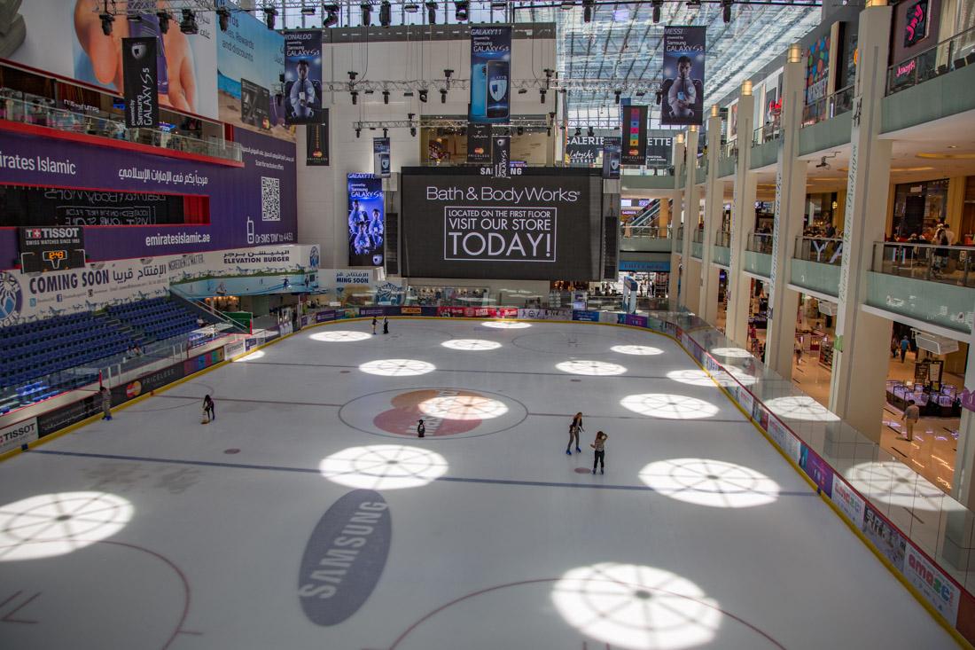 schaatsbaan in Dubai